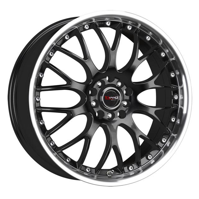 Drag DR-19 Gloss Black Machined Lip Wheel 18x8 5x100/114.3 45 - DT-45381