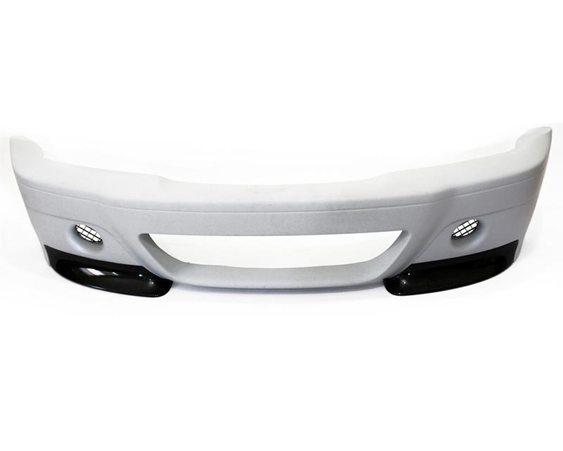 Status Gruppe CSL Style Front Bumper Dual Hole Version 1x1 Race Lip BMW E46 M3 01-06 - E46M3CSLBDV1x1LN