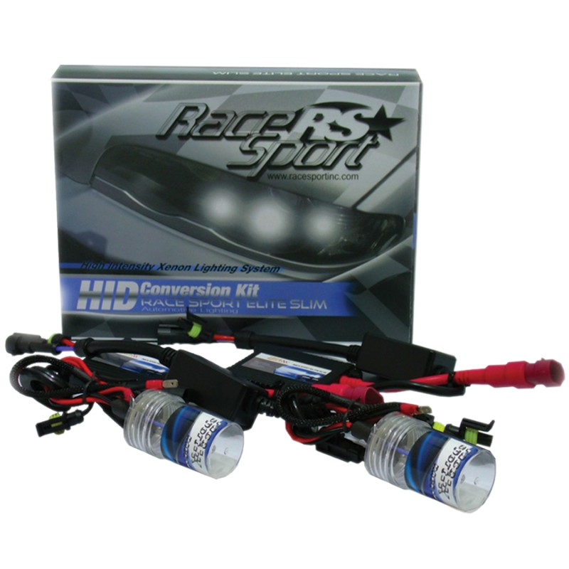 Race Sport Lighting 9004-3 Bi-Xenon 10K AC Super-Slim Ballast Kit - 9004-3-10K-BI-SLIM