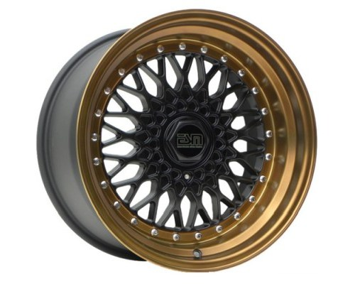 ESM Wheels Matte Black/Bronze Lip ESM-002R Cast Wheel 17x10 4x100/114.3 +15mm - ESM-002RMBBL17X10-4X100