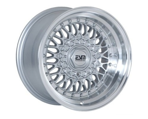 ESM Wheels Silver/Machined Polished Lip ESM-002R Cast Wheel 15x7 4/5x100 +15mm - ESM-002RSL15X7