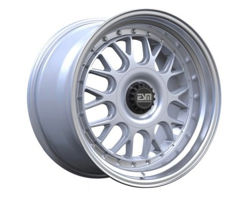 ESM Wheels Silver/Machined Polished Lip ESM-004M Cast Wheel 18x11 5x130 +50mm - ESM-004MSL18X11-5X130