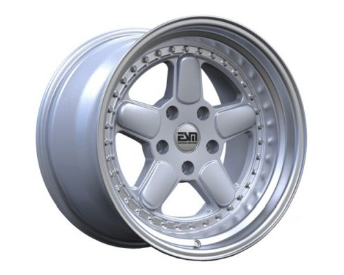 ESM Wheels Silver/Machined Polished Lip ESM-005R Cast Wheel 17x8.5 4x100 +35mm - ESM-005RSL17X85-4X100+35