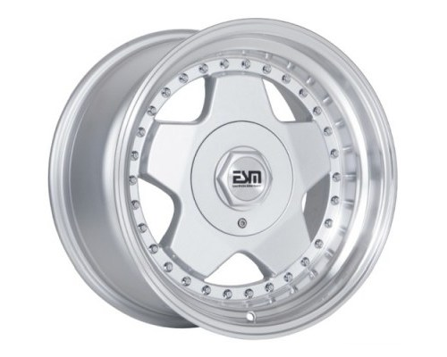 ESM Wheels Silver/Machined Polished Lip ESM-009R Cast Wheel 16x9 4/5x100 +15mm - ESM-009RSL16X9-45X100