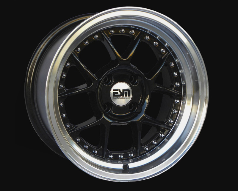 Image of ESM Wheels Black ESM-010 Wheel 15x8 4x100 15mm