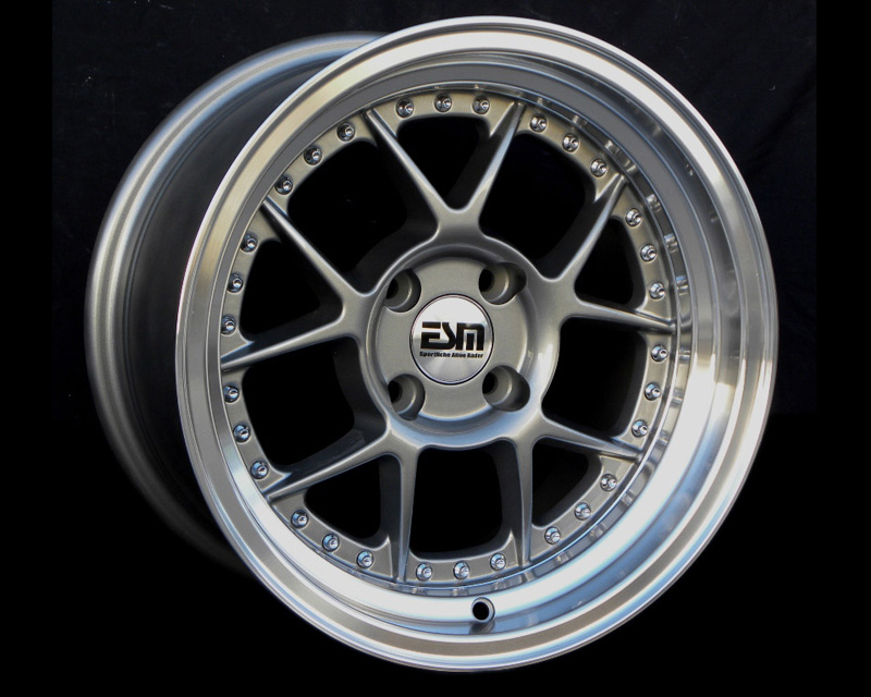 Image of ESM Wheels Gunmetal ESM-010 Wheel 15x8 4x100 15mm