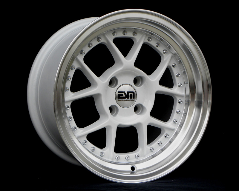 Image of ESM Wheels White ESM-010 Wheel 15x8 4x100 15mm