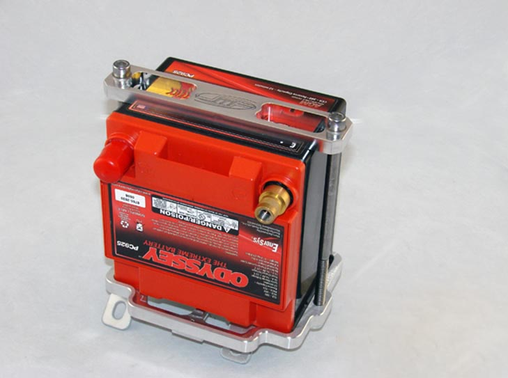 JM Fabrications Aluminum PC925 Small Battery Kit Mitsubishi Lancer Evolution VII VIII IX 03-08