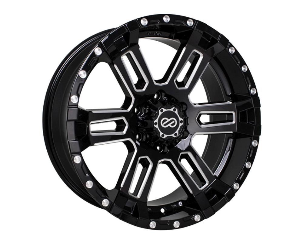 Enkei COMMANDER Wheel Truck & SUV Series Black Machined 20x9 6x139.7 5mm - 519-290-8405BKM