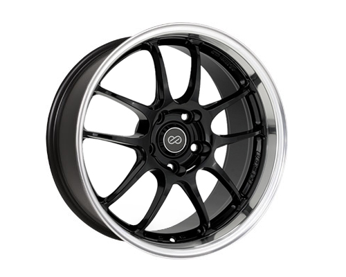 Enkei PF01SS Black w/ Mach Lip Wheel 17x8 5x114.3 50mm