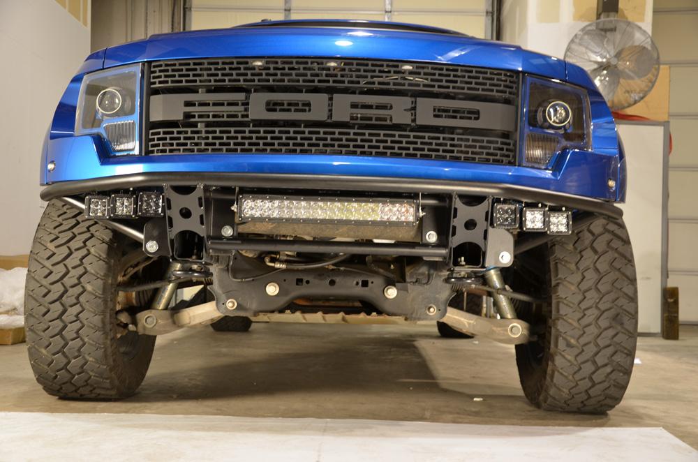 N Fab Rds Pre Runner Front Bumper Gloss Black Ford Raptor 10 14