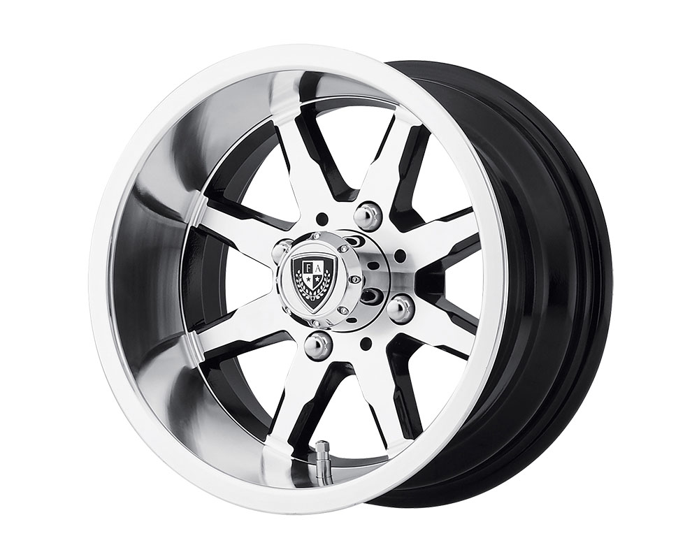 Fairway Alloys FA141 Shift Wheel 10x7 4x4x101.6 -25mm Machined Gloss Black - FA-141-M