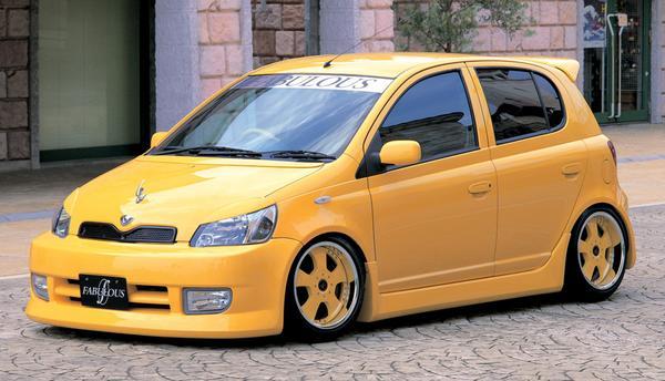 Image of FABULOUS Bonnet Spoiler Carbon Fiber Toyota Vitz xCP10 99-05