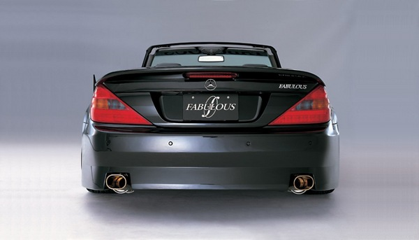 FABULOUS Rear Wing Mercedes-Benz SL-Class R230 01-06 - FAB99221410001