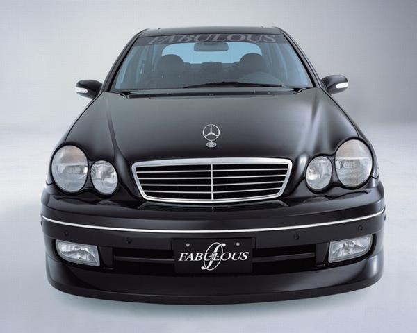 fabulous front bumper spoiler mercedes benz c class w203 01 07. Black Bedroom Furniture Sets. Home Design Ideas