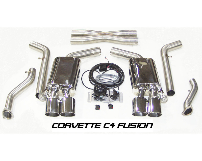 B&B Exhaust 3inch C4 Fusion Exhaust System with 4.5inch Oval Tips Chevrolet Corvette ZR1 90-91 - FCOR-0006