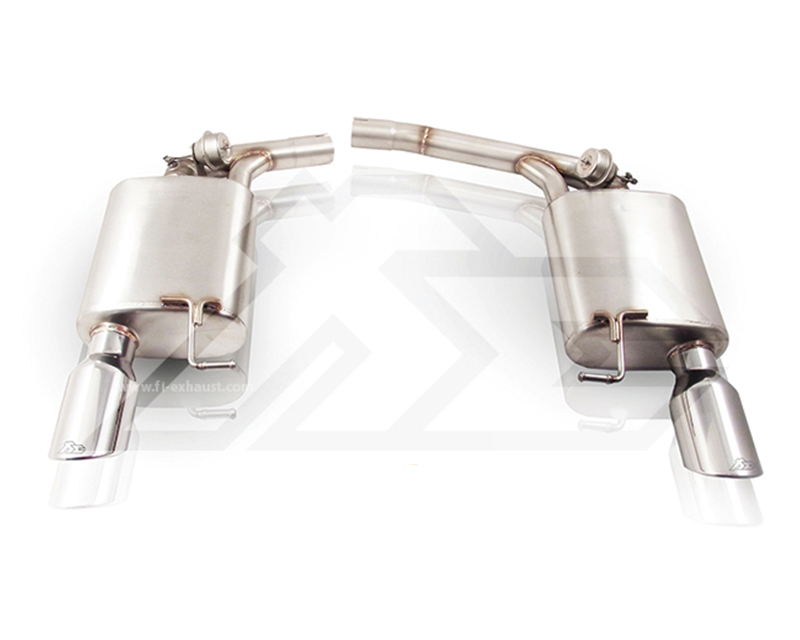 FI Exhaust Rear Mufflers with Front Pipe and Y Pipe Quad Tips Audi A4 B8|B8.5 Avant 09-15 - AD-A4B8-CBV + TIP6389S*4