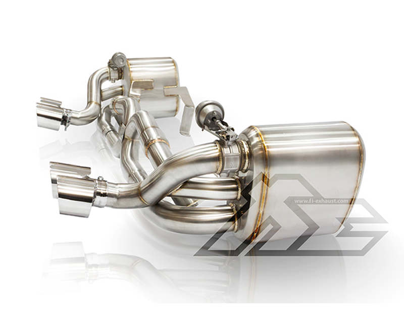 FI Exhaust Race Mid X Pipe Valvetronic Muffler with Quad Tips Porsche 997.1 Carrera | S 05-08 - PH-997-CBV + TIP-997-S