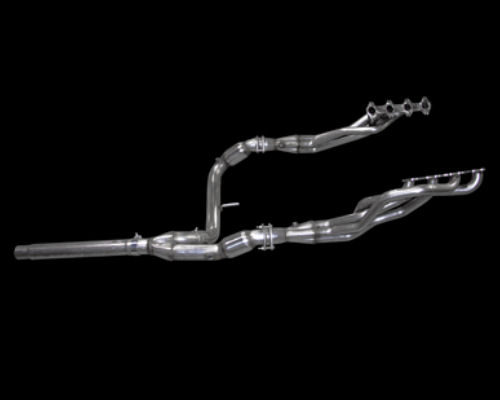 American Racing 1.625 inch x 3 inch Header with 3 inch Y Pipe with Cats Ford F150 5.4L 04-08 - F150-04158300LSWC