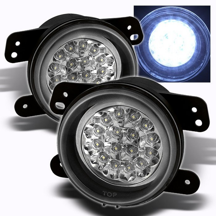 Spyder Chrome LED FOG LIGHTS DODGE MAGNUM 05-07/CHRYSLER 300 05-08 - FL-LED-DM05-C