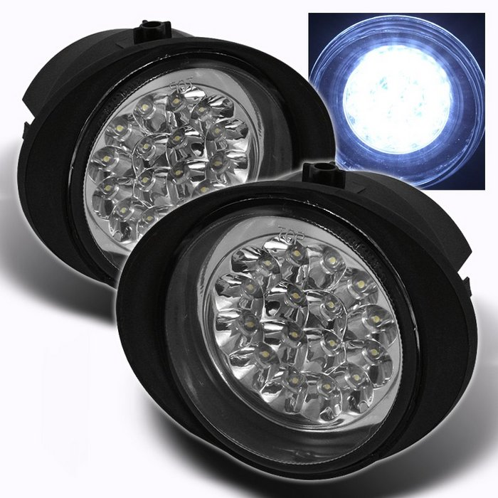 Spyder CHROME LED FOG LIGHTS NISSAN MURANO 03-05 / INFINITI FX35/45 03-06 - FL-LED-NA02-C
