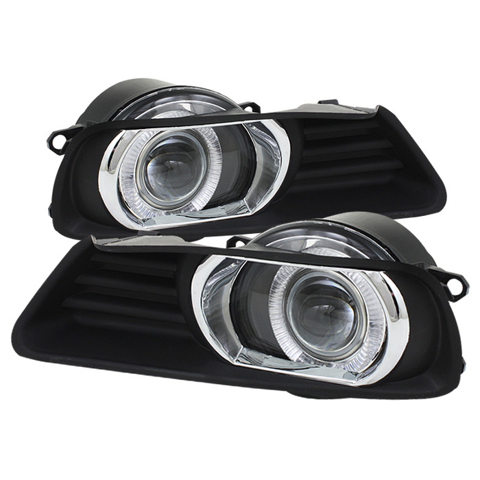 Spyder Auto Clear Halo Projector Fog Lights with Switch Toyota Camry 07-09 - FL-P-TCAM07-HL