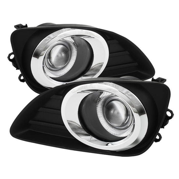 Spyder Auto Clear Halo Projector Fog Lights with Switch Toyota Camry 10-11 - FL-P-TCAM2010-HL