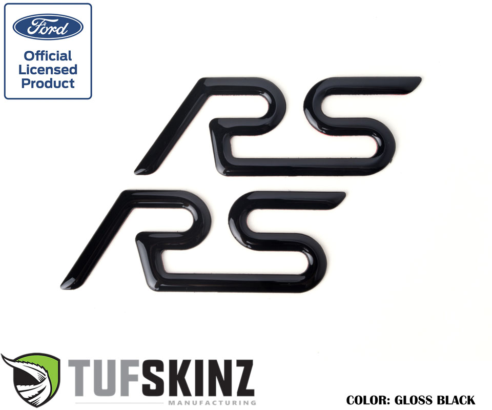 Tufskinz FOC001-BLK-G Rear Spoiler Inserts Fits 16-Up Ford Focus RS 2 Piece Kit Gloss Black