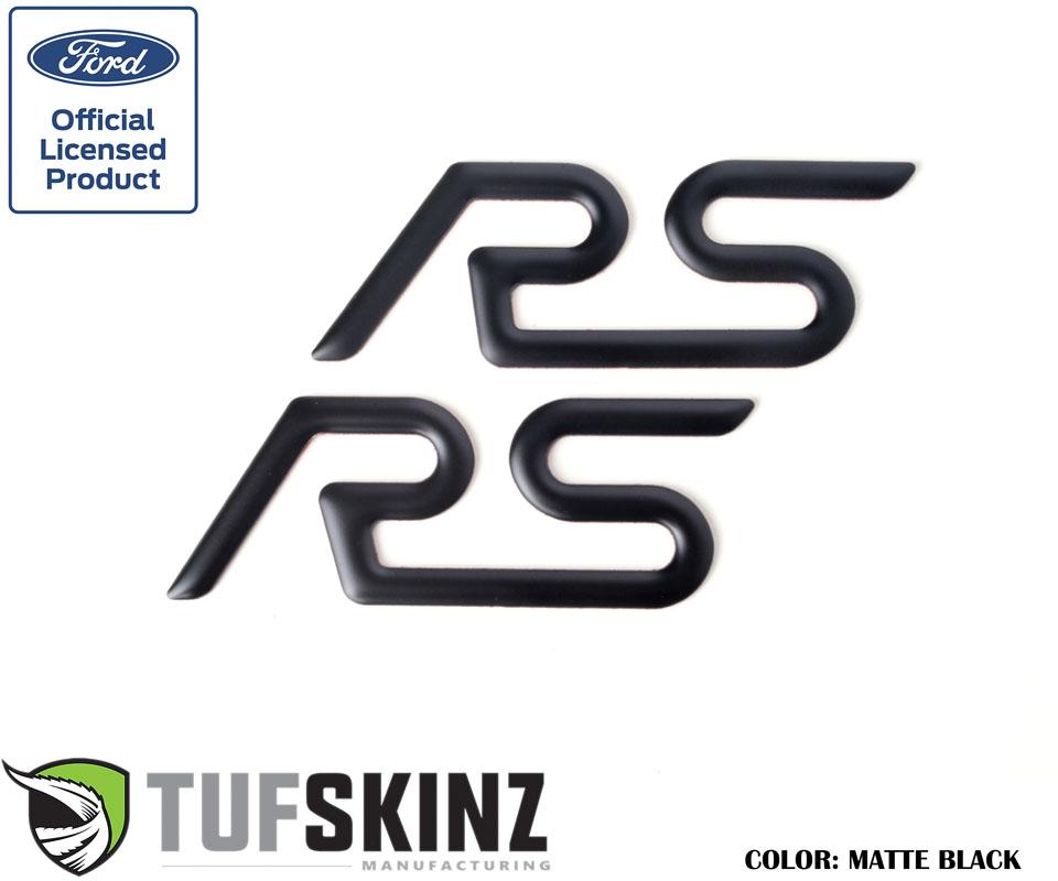 Tufskinz FOC001-BLK-M Rear Spoiler Inserts Fits 16-Up Ford Focus RS 2 Piece Kit Matte Black