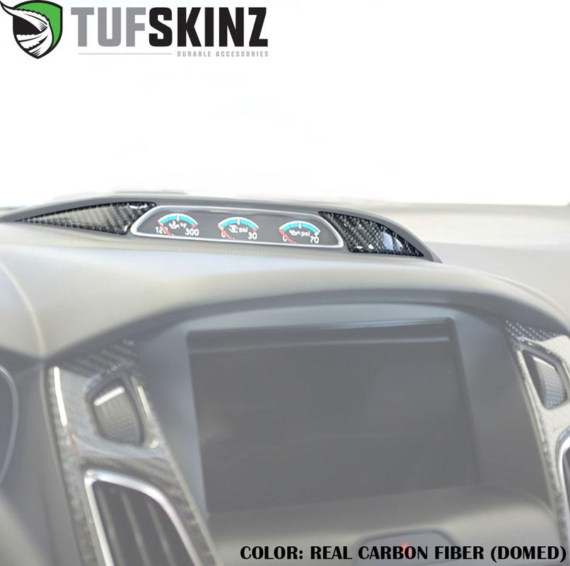 Tufskinz FOC012-DCF-G Gauge Cluster Accent Kit Fits 16-Up Ford Focus 2 Piece Kit Domed Carbon Fiber