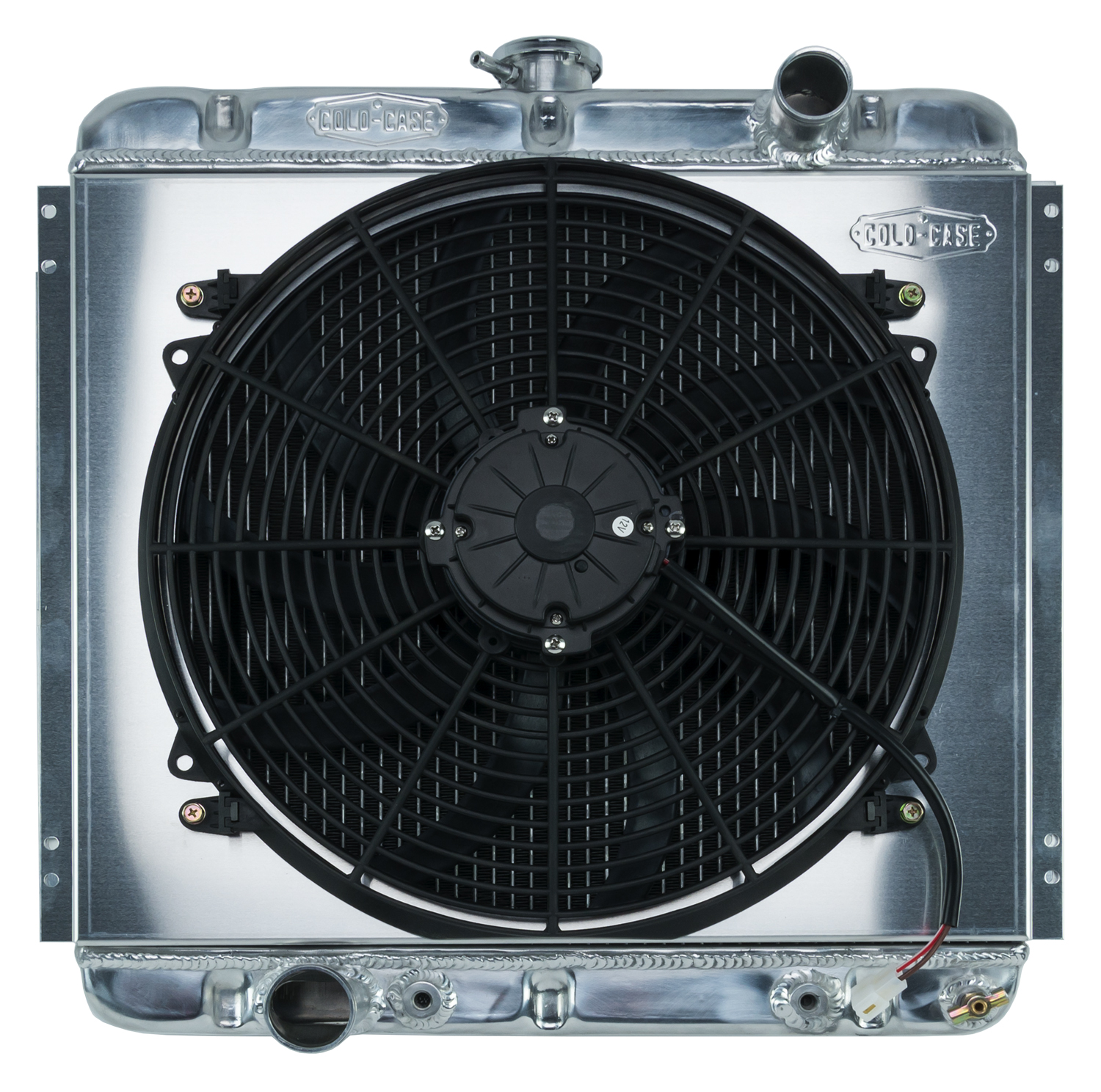 **Discontinued**67-70 Mustang 20 Inch Aluminum Performance Radiator And 16 Inch Fan Kit AT Cold Case Radiators - FOM560ATFK