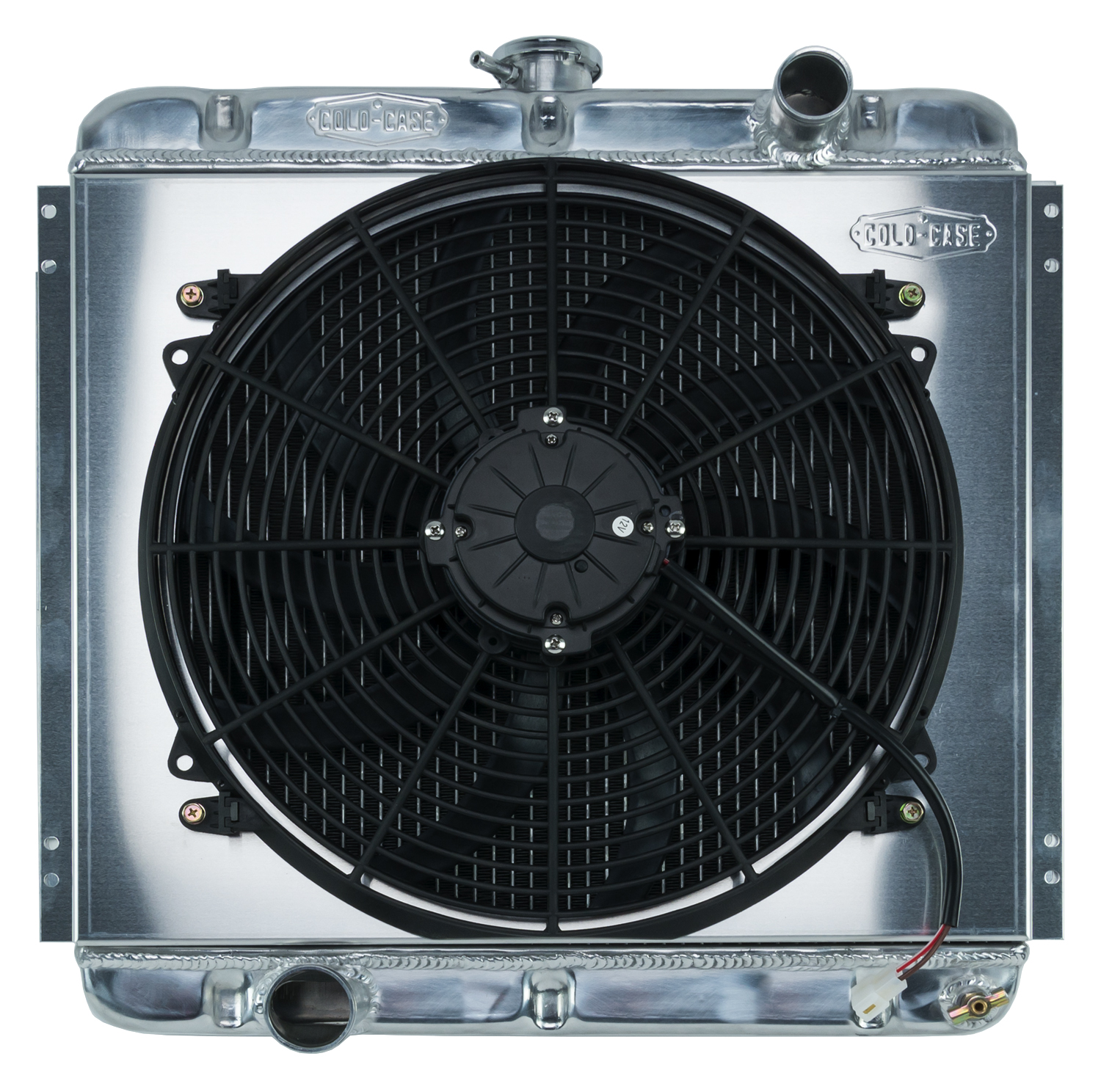 **Discontinued**67-69 Mustang 20 Inch Aluminum Performance Radiator And 16 Inch Fan Kit MT Cold Case Radiators - FOM560TFK