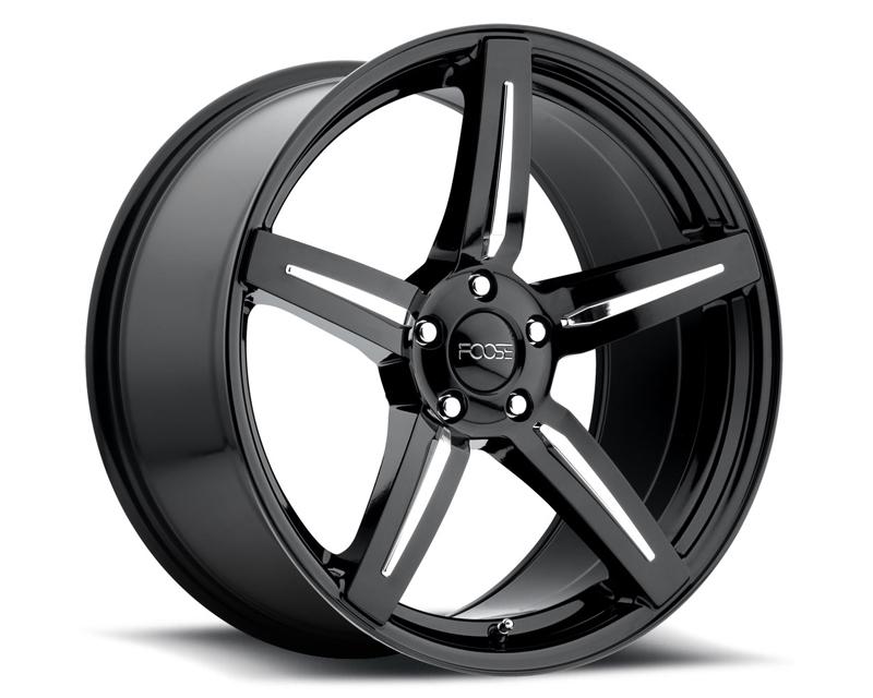 FOOSE Enforcer F154 Gloss Black with Chrome Inserts Wheel 20x10 5x112 +40mm - F154200043+40