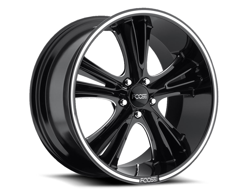 FOOSE Knuckle Buster F152 Gloss Black & Milled Wheel 20x10 5x114.3 +45mm - F152200065+45