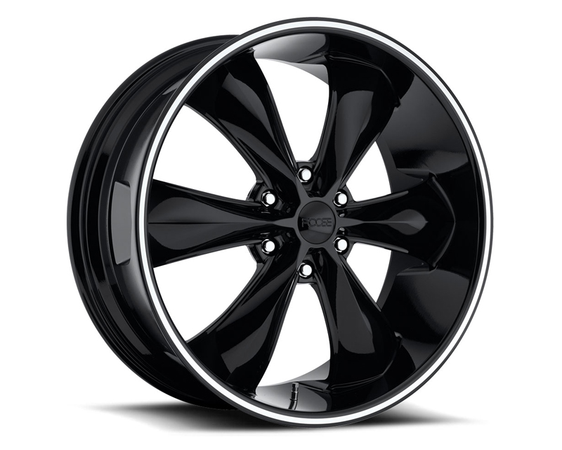 FOOSE Legend 6 F138 Gloss Black with Lip Groove Wheel 22x9.5 6x135 +35mm - F138229589+35