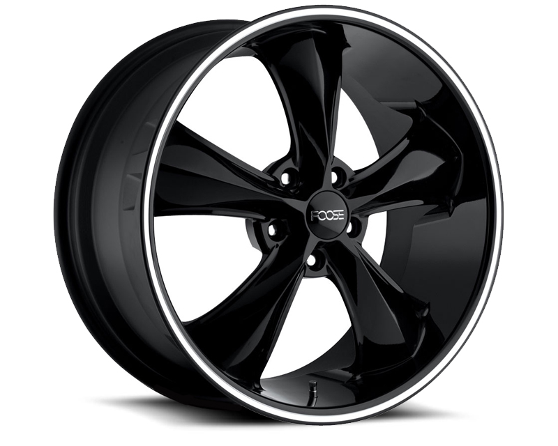 FOOSE Legend F104 Gloss Black with Milled Lip Groove Wheel 18x9 5x114.3 +7mm - F10489069