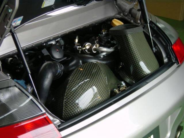 GruppeM Carbon Fiber Ram Air Intake System Porsche 996 Turbo 00-06 - FRI-0139