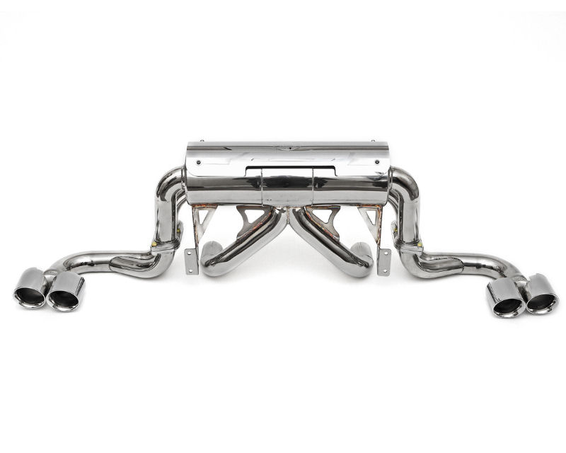 Fabspeed Maxflo Performance Exhaust System with Black Chrome Deluxe Quad Style Tips Ferrari 360 | 360CS 99-05 - FS.FER.360.MAXB