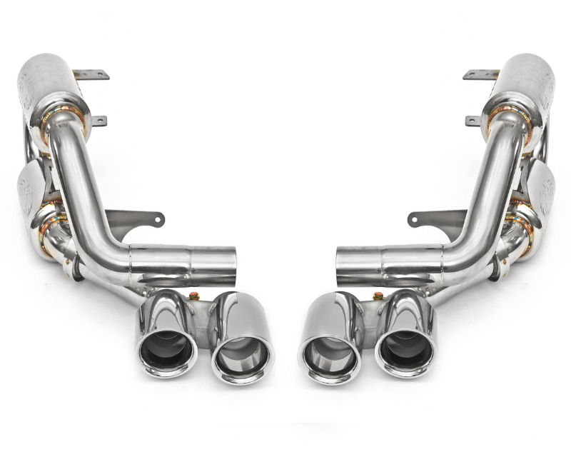 Fabspeed Exhaust System with Quad Style Polished Chrome Tips Porsche 991 Carrera 3.8L S | 3.4L PSE 12-16 - FS.POR.991.SCUP38P