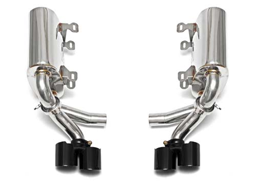 Fabspeed Maxflo Performance Exhaust System With Tips Polished Chrome Porsche 997.1 05-08 - FS.POR.997S.MAXP