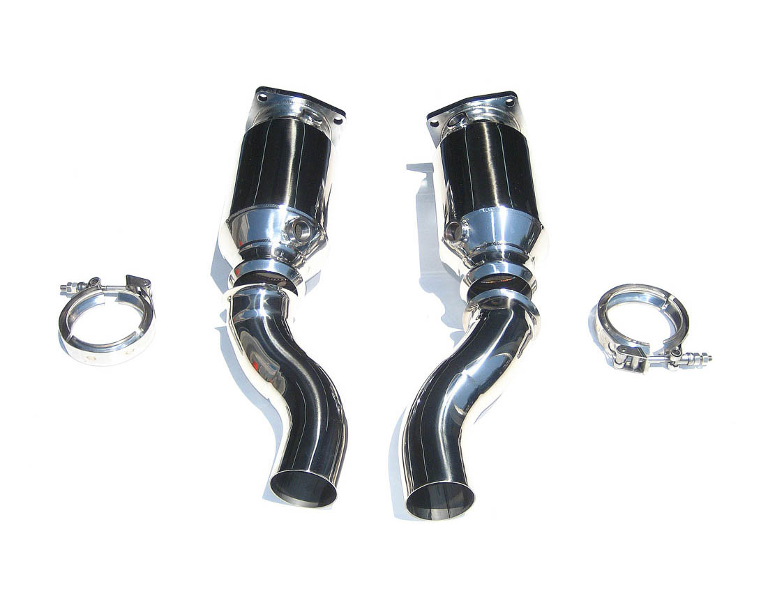 Fabspeed Muffler Bypass Exhaust System with Sport Cats|Tips|Polished Chrome Porsche 997 Turbo 07-09 - FS.POR.997T.MBEP