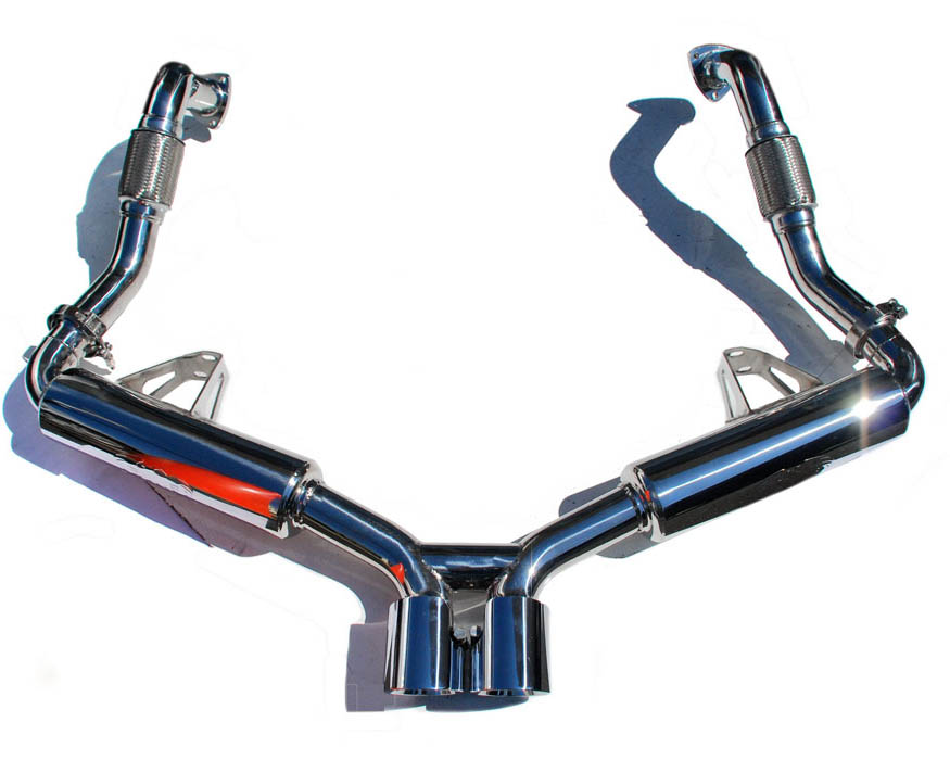 Fabspeed Race Exhaust System with Tips|Polished Chrome Porsche 987.2 Boxster Supercup 09-12 - FS.POR.9872.SCUPP