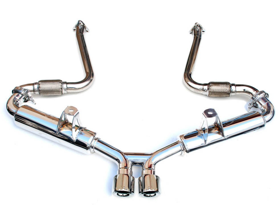Fabspeed Supercup Exhaust System with Deluxe Dual Style Tips 2000-2004|Polished Chrome Porsche 986 Boxster 97-04 - FS.POR.9862.SCUPP