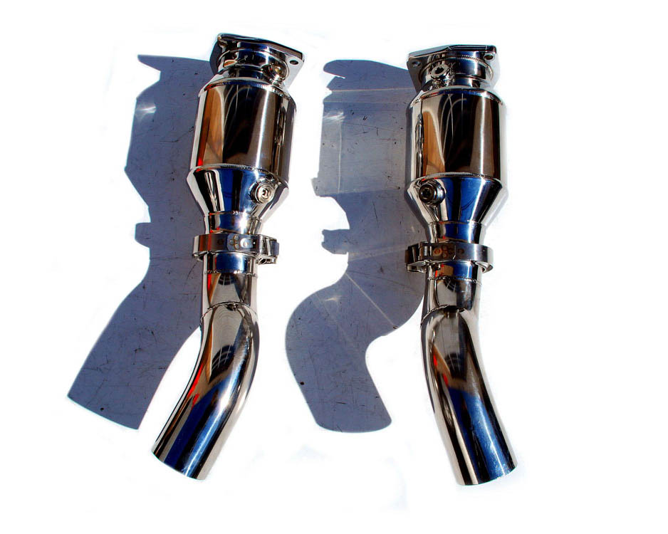 Fabspeed Muffler Bypass Exhaust System with Tips|GT2 Style with Sport Cats Porsche 997 GT2 08-09 - FS.POR.997GT2.MBE