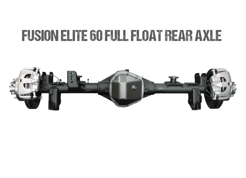 Jeep Gladiator Axle Assembly Fusion Elite 60 Full Float Rear Axle Assembly 20-Pres Jeep Gladiator JT Gear Ratio 4.56 ARB Air Locker Fusion 4x4 - FUS-FF60-JT-ARB-456