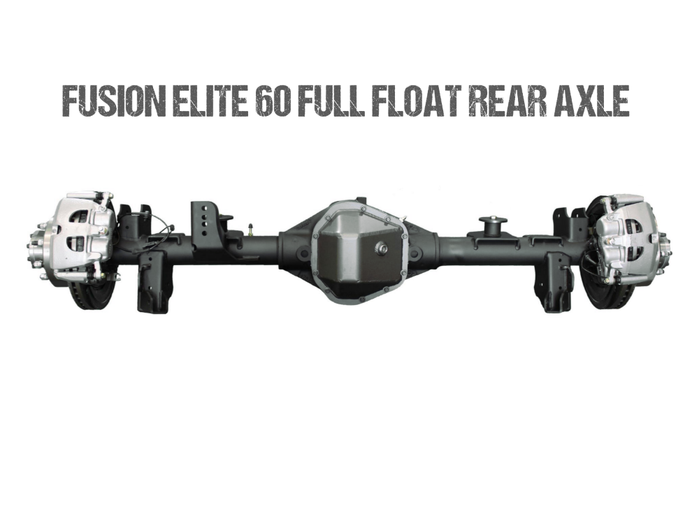 Jeep Gladiator Axle Assembly Fusion Elite 60 Full Float Rear Axle Assembly 20-Pres Jeep Gladiator JT Gear Ratio 5.38 Eaton E-Locker Fusion 4x4 - FUS-FF60-JT-ELC-538
