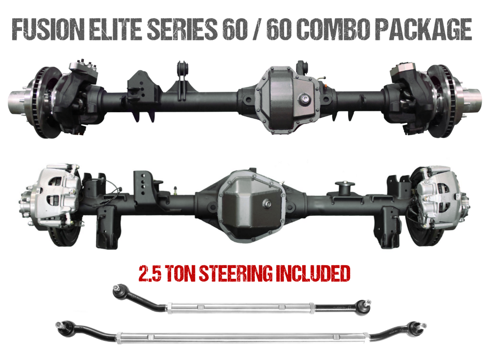 Jeep Gladiator Axle Assembly Fusion Elite 60/60 Package 20-Pres Jeep Gladiator JT Gear Ratio 4.56 ARB Air Locker Fusion 4x4 - FUS-KPFF60-JT-ARB-456