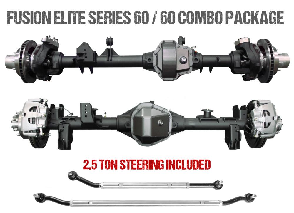 Jeep Gladiator Axle Assembly Fusion Elite 60/60 Package 20-Pres Jeep Gladiator JT Gear Ratio 4.88 Eaton E-Locker Fusion 4x4 - FUS-KPFF60-JT-ELC-488