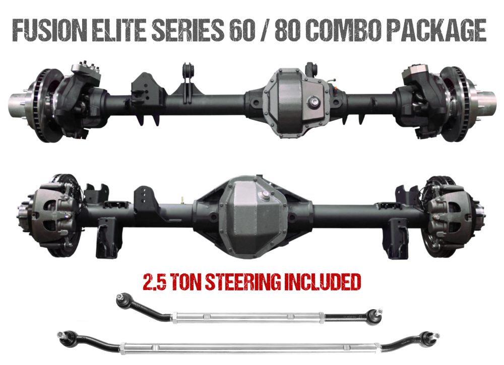 Jeep Gladiator Axle Assembly Fusion Elite 60/80 Package 20-Pres Jeep Gladiator JT Gear Ratio 5.38 ARB Air Locker Fusion 4x4 - FUS-KPFF80-JT-ARB-538