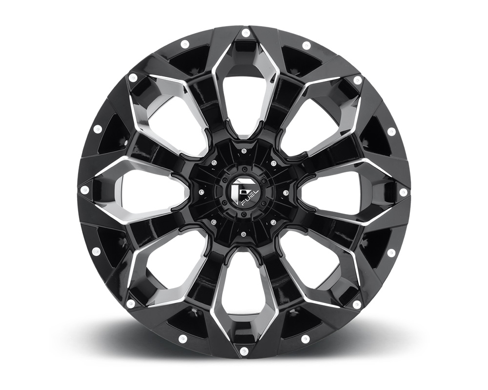 Fuel D576 Assault Gloss Black & Milled 1-Piece Cast Wheel 20x9 8x165.1 20mm - D57620908257